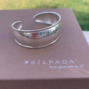 B1407 Retired Silpada sterling silver cuff bracelet